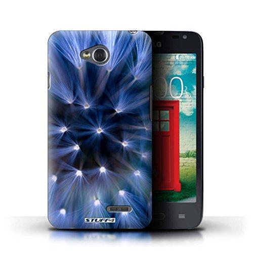 Kobalt® Imprimé Etui / Coque pour LG L65/D280 / Rose conception / Série Couleur/Lumière Fleur Bleu