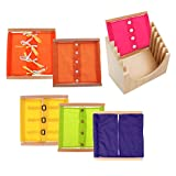 Sharplace Scatola Di Abbigliamento Educativo Per Apprendimento Precoce Montessori Con Scatola Di Armadietti Per Bambini