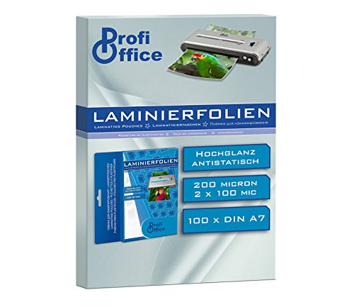 ProfiOffice® Laminierfolien, DIN A7, 2 x 100 Mikron, 100 Stück (19005)