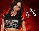 AJ Lee Fotodruck, WWE, 25,5 x 20,3 cm, Laborqualität, signiert