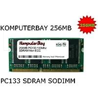 Komputerbay 256MB 133Mhz PC133 SDRAM SODIMM (144 Pin) computer portatile RAM 16Mx16x16 (8 Configurazione Chip)