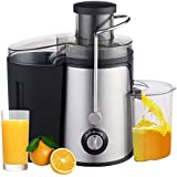J Go Juice Extractor Wide Mouth Centrifugal Juicer,2 Speed Juicer Machine For Fruits And Vegetable,Stainless Steel,850Watt