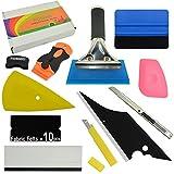 FOSHIO Profi Folierung Werkzeuge Set mit Schaber Rakel Messer Ersatzfilz und -Klingen für Auto Folie, Car Wrapping
