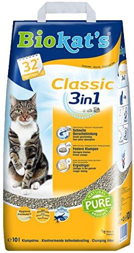 Biokat's 3 in 1 Classic Katzenstreu ohne Duft, 10 L