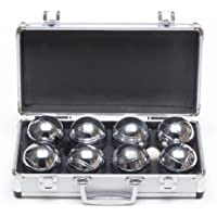 Garden Games Boules in a Metal Carry Case - 4 Player Premium Set With Steel Engraved Boules - Petanque