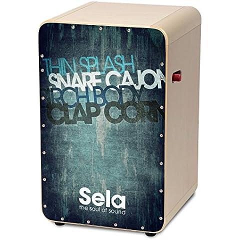 Sela SE 082Casela Pro Cajon con On/Off per rullante, montato e pronto a giocare Vintage Blu