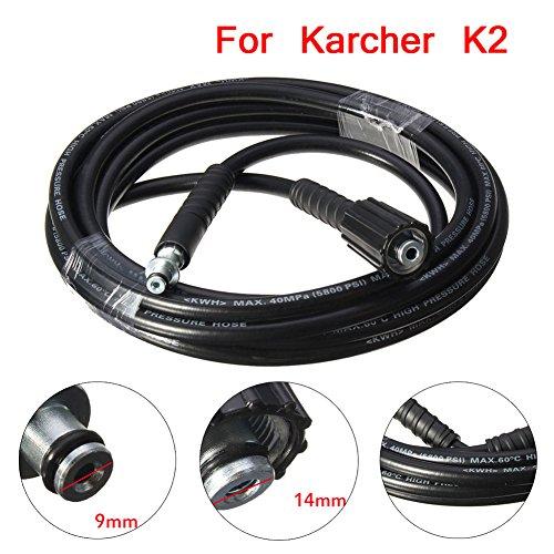 Proglam 5800PSI/160BAR Hochdruck-Ersatzschlauch für Kärcher K2 Reiniger, 5 m