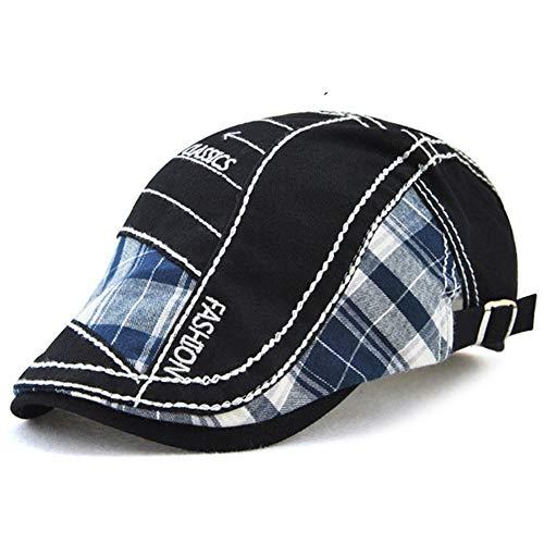 Tioamy Schirmmütze Kappe Unisex Mütze Stickerei Damen Herren Mütze Flatcap Sportmütze Newsboy Cap Beret Cap Cabbie Cap - Cord Newsboy