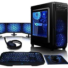 VIBOX Kaleidos GS770-88 Paquet Gaming PC - 4,2GHz Intel i7 Quad Core CPU, GTX 1070 GPU, Extremo, Ordenador de sobremesa para oficina Gaming vale de juego, con monitor, Windows10, 16 Color Telecontrol RGB Iluminaciàn (3,6GHz (4,2GHz Turbo) SuperrápidoInteli77700Quad 4-CoreCPUprocesador de Kabylake, Nvidia GeForce GTX 1070 8GBGPUde laTarjeta gráfica de altorendimiento, 16 GB 2400MHzDDR4 RAM, Discoduro2TB, 85+ PSU600W, CIT Negro)