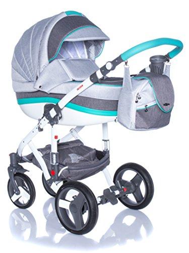 Kombi Kinderwagen Travel System Adamex Vicco R9 TÜRKISBLAU 3in1 Buggy Sportwagen Babyschale Autositz Kite 0-13kg