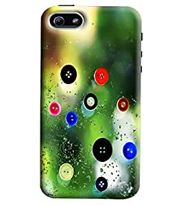 Blue Throat Buttons Printed Designer Back Cover/Case For Apple iPhone 5