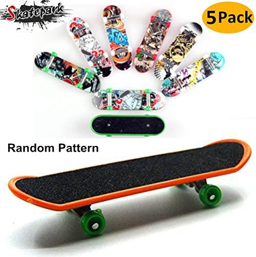 board, 5 Pack Mini Griffbrett Spielzeug Deck Truck Finger Board Skate Park Jungen Kinder Kinder Geschenk (Zufällige Muster) ()