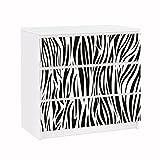 Apalis 91792 Möbelfolie für IKEA Malm Kommode Zebra Pattern, größe 3 mal, 20 x 80 cm