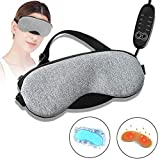 Heated Eye Mask, Big-Fun Electric Eye Mask For Sleeping, Adjustable Temperature Time Control, With Comfortable Warm Or Cold Massage, For Puffy, Dry, Tired Eyes And Dark Circles, To Relieve Eye Fatigue