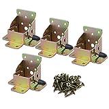BQLZR 75x 60x 55mm, color-plated Zinc bisagras de hierro mesa patas de cama plegable de...