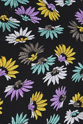 Neu Sommerkleid Damen Holiday Gänseblümchen-muster Kleider Größe 8 10 12 14 16 Lila Multi