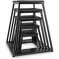 Capital plyo crew plyo sports-box plyometrisches saut pour tabouret bocksprung stepper turn et set d'entraînement crossfit exercices lot de 2 cm d'épaisseur revêtement en cuir synthétique rembourré et anti-dérapant (noir)