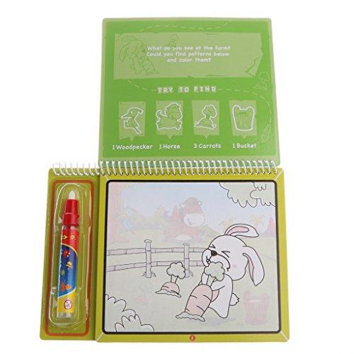 Sharplace Jouets éducatifs--Livres à Colorier--Magie de l'eau Dessin Livre Magic Pen--Doodle Book - Animaux