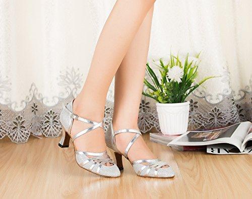 Miyoopark - Ballroom donna Silver-7cm Heel