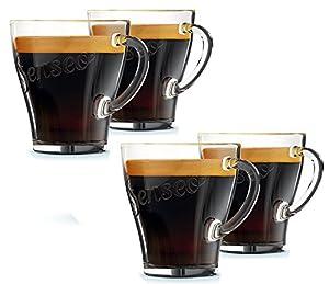 Genuine Senseo Exclusive Coffee Espresso Café Tumbler Shot Glass Cups 124mm (Pack of 4 Glasses)