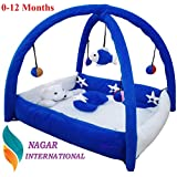 Nagar International Baby Luxury and High Quality Bassinet & Cradle Bedding Set in Large Size (Polyester Blue, 0-12 Months)
