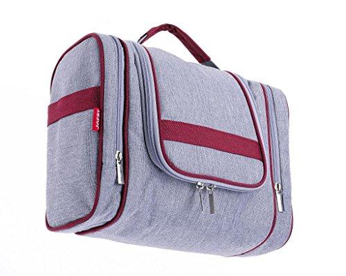 8bd3d0662219e JOFRI Hochwertige Tragbare Kulturtasche zum Aufhängen für Damen und Herren  Großer Kulturbeutel ideal für Reisen und kurze Trips als Reisetasche ...