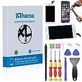 Xlhama New Touch Screen LCD Display Retina Frame Compatibile per iPhone 6 Vetro Schermo Bianco Kit Smontaggio trasformazione Completo di Ricambio Manuale Istruzione Pellicola Vetro temperato