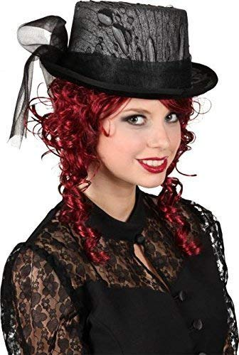 Damen Verschleierten Viktorianisch Schwarz Vampir Halloween Horror Karneval -