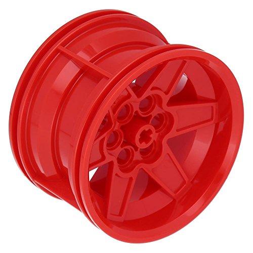 Preisvergleich Produktbild LEGO Felge 56mm D. x 34mm Technik Rennen Mittel, 6 Pin Löcher Rot
