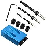 15 Graden Pocket Gat Schroef Jig Houtbewerking Hoek Boren Gids Hoek Tool Kit 6/8/10mm Gaten