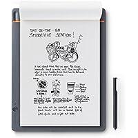 Wacom CDS-810S Bamboo Slate A4 Cuaderno digital para apuntes y dibujo / Cuaderno de notas inteligente / Compatible con dispositivos iOS, Android y Windows / Incluye bolígrafo / Color gris medio