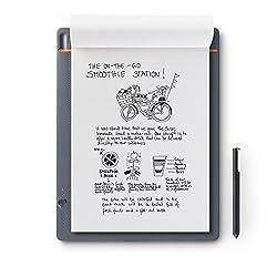Wacom Bamboo Slate Smartpad A4 - Großes Notepad mit Digitalisierungs-Funktion inkl. Eingabestift mit Kugelschreiber-Mine - Kompatibel mit Android und Apple
