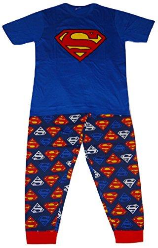 Superman DC Comics Herren Logo Zweiteiler Pyjama Set - Medium