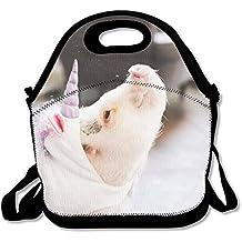 Ligero Gourmet bolsa para el almuerzo, diseño de cerdos son Wearing unicornios 3d impresión caja de almuerzo bolso para niños y adultos
