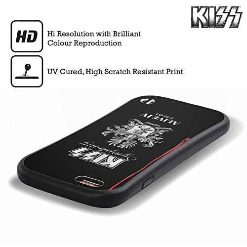 Ufficiale KISS Spirit Of 76 Logo 3 Case Ibrida per Apple iPhone 5 / 5s / SE Symphony Alive IV