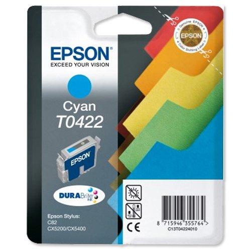 Epson T0422 Cartouche d'encre d'origine Pigment Cyan pour C82 CX5200 CX5400