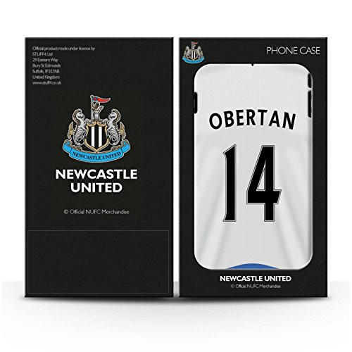 Officiel Newcastle United FC Coque / Brillant Robuste Antichoc Etui pour Apple iPhone 4/4S / Pack 29pcs Design / NUFC Maillot Domicile 15/16 Collection Obertan