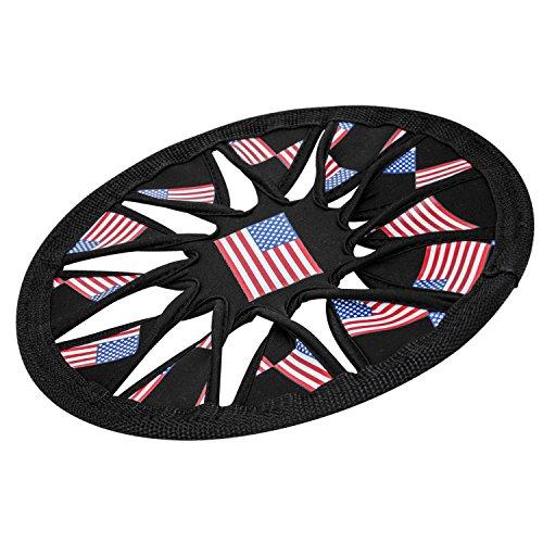 Pawaboo Hundefrisbee - Weich Flexible Schwimmend faltbar Dog Frisbee Disc Wurfspielzeug Wurfscheibe Wasserspielzeug für Hunde, Fahne US