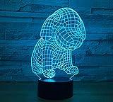 GZ Chien LED Lampe De Bureau Illusion Optique 3D / Veilleuse Illusion Optique 3D, Lampe 3D À LED en Couleur...