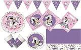 Procos 10133062 Set de fête pour Anniversaire d'enfant Motif Minnie Mouse et Unicorne Multicolore
