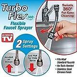 #6: Snazzynest Turbo Flex 360° Flexible Faucet Sprayer Water Extender