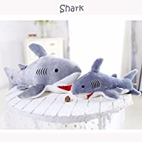 Zooarts Giant Shark Soft Plush Pillow Toy Stuffed Animals Back Cushion (Two Size to Choose)