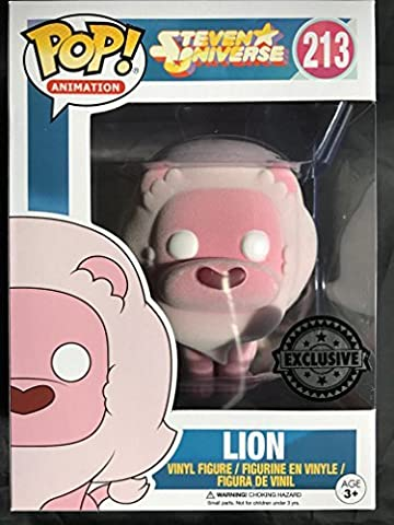 Funko - Figurine Steven Universe - Lion Flocked Exclu Pop 10cm - 0889698137010