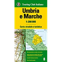 Umbria, Marche 1:200.000. Ediz. multilingue