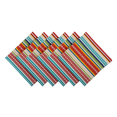 DII CAMZ11140 Cloth Napkin, Made Oversized for Place Settings, Family Dinners, BBQ, and Easter, 20x20, Baja Stripe Baja Stripe