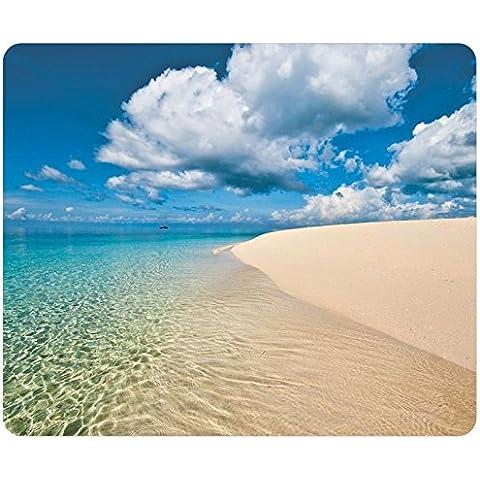 Playas de arena cielo nube océano Zanzibar Tanzania rectangular alfombrilla de ratón