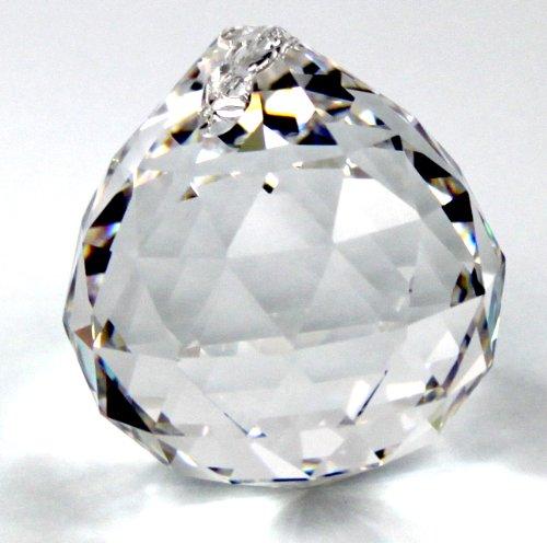 2x premium-kristall© Kristall Glas Kugel 30mm - 30% PbO Bleikristall Vollschliff Feng Shui Kristalle