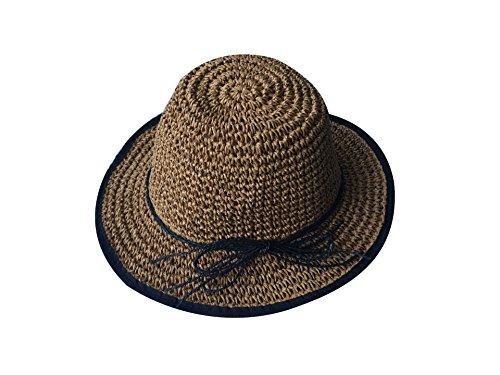 ACVIP Femme Chapeaux de Paille Cloche Bob de Soleil Voyage Vacances 3Couleurs #3