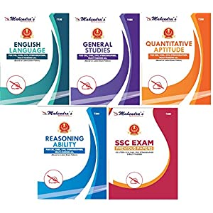 Mahendras SSC Kit English Latest Material 2021 (Combo of 5) [SSC BOOK | SSC CGL Tier I & Tier II | CPO | CHSL | GD…