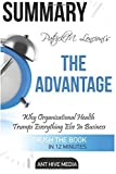 Patrick M. Lencioni's The Advantage: Why Organizational Health Trumps Everything Else in Business Summary by Ant Hive Media (2016-04-24)